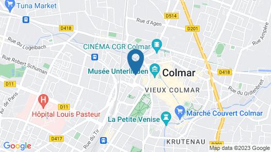 ibis budget Colmar Centre Ville Map