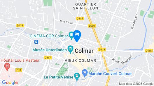 Brit Hotel Primo Colmar Centre Map