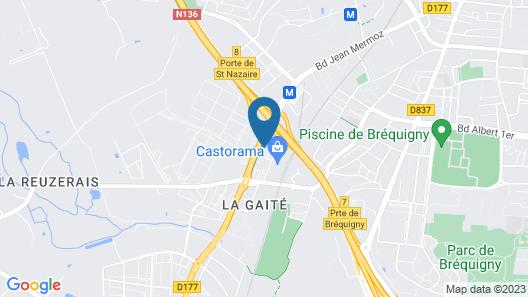 Hôtel l'Ortega Rennes Aéroport Map