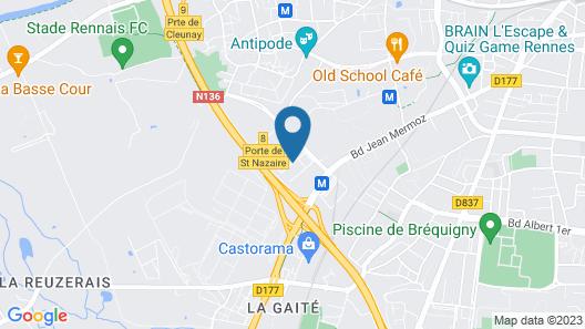 Best Western Plus Hotel Isidore Map