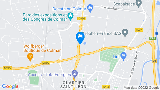 B&B Hotel Colmar Expo Map