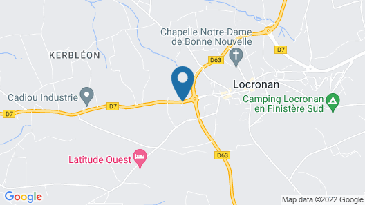 2 Bedroom Accommodation in Locronan Map