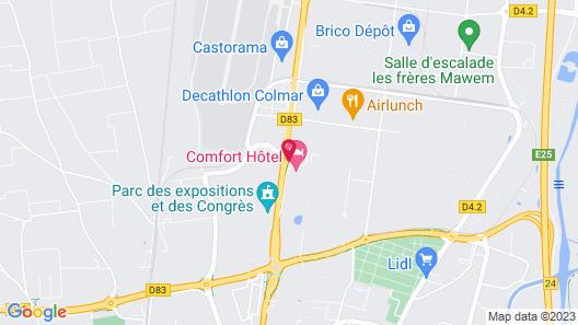 Comfort Hotel Expo Colmar Map