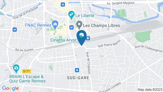 ibis Rennes Centre Gare Sud Map