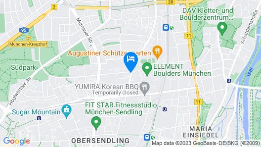 NYX Hotel Munich by Leonardo Hotels Map