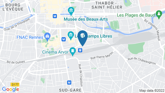 ibis Styles Rennes Centre Gare Nord Map