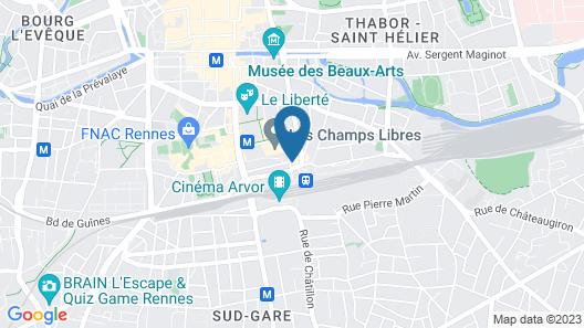 Kyriad Rennes Centre Map