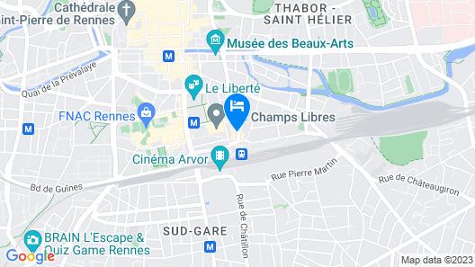 Campanile Rennes Centre - Gare Map