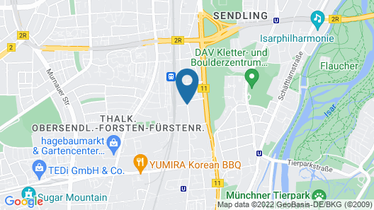 DD Suites Serviced Apartments Map