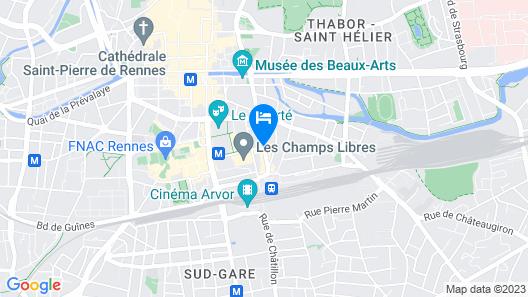Novotel Spa Rennes Centre Gare Map