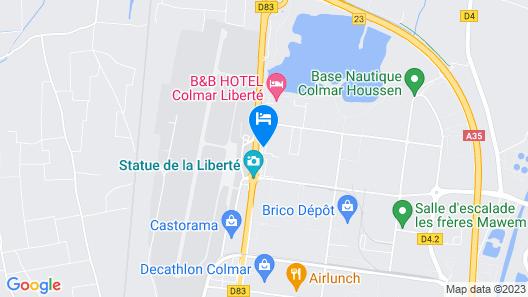 CAMPANILE COLMAR - Parc des Expositions Map