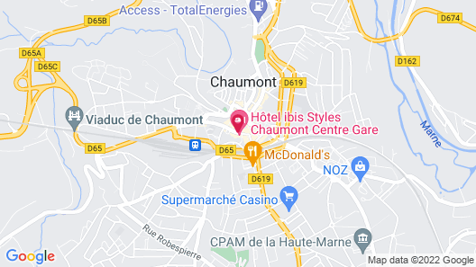 ibis Styles Chaumont Centre Gare Map