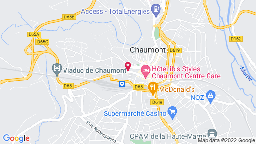 Hôtel Les Remparts Map