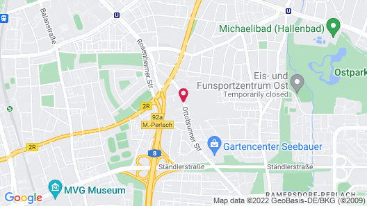 NH Muenchen City Süd Map