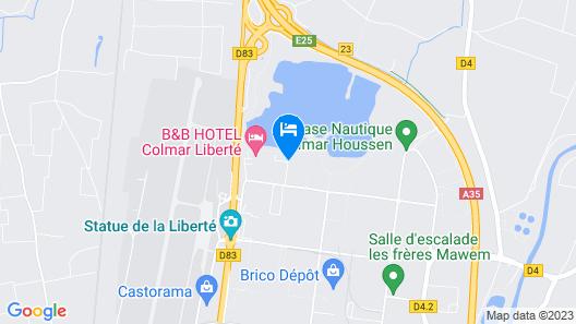 Hôtel Roi Soleil Prestige Colmar Map