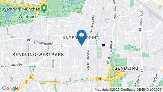 Holiday Inn Munich- Westpark Map