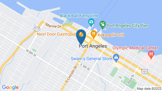 Port Angeles Inn Map