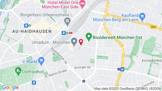 Moxy Munich Ostbahnhof Map
