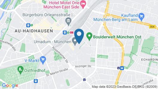 Residence Inn by Marriott Munich Ostbahnhof Map