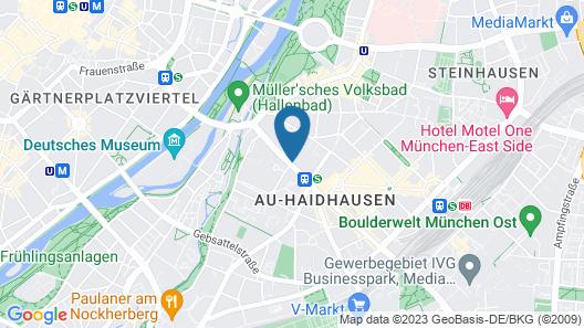 Hilton Munich City Map