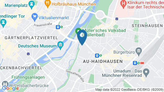 Holiday Inn Munich - City Centre Map