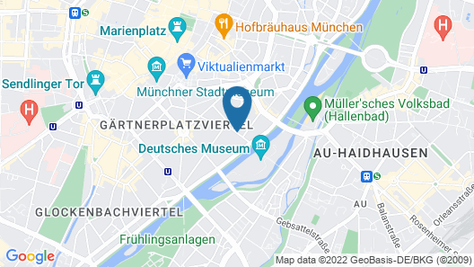 Admiral Hotel Map