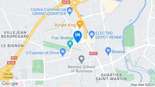 Appart'City Rennes Beauregard Map
