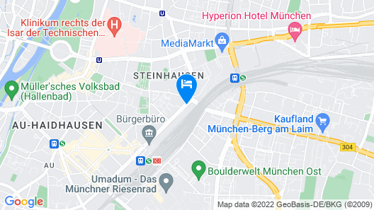 Residence Inn by Marriott Munich City East Map