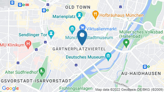 Hotel Deutsche Eiche Map