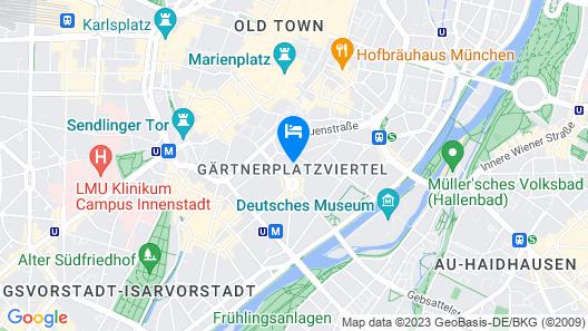 Hotel Deutsche Eiche Map