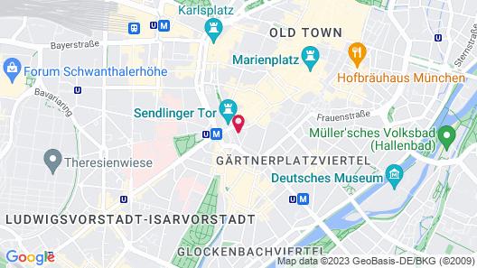 Hotel am Sendlinger Tor Map