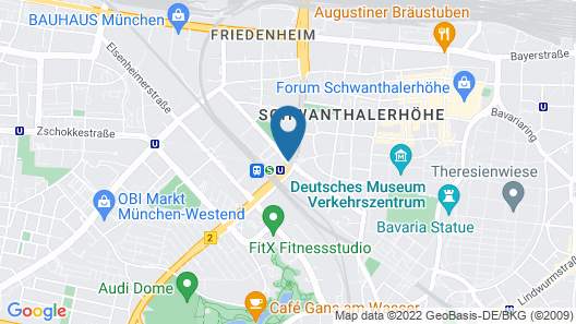 Sheraton München Westpark Hotel Map