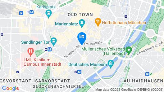 Living Hotel Das Viktualienmarkt Map