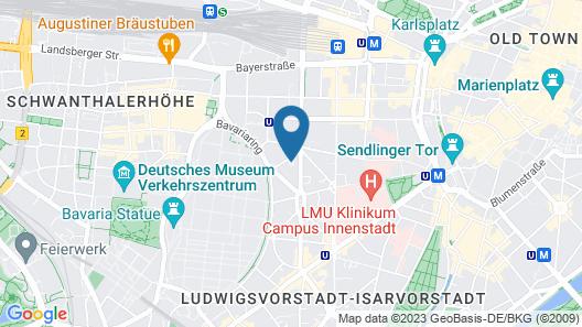 Hotel Uhland Map