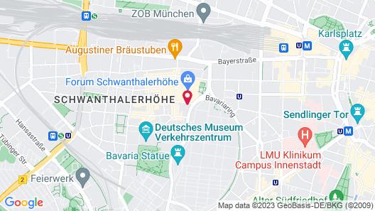 Boutique Hotel Krone München Map