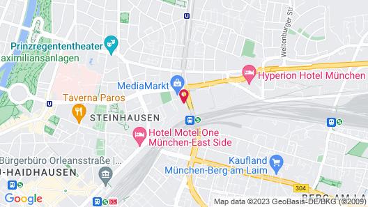 Holiday Inn Munich - Leuchtenbergring Map