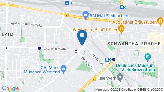 Brera Serviced Apartments München Map