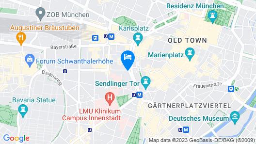 City Aparthotel München Map