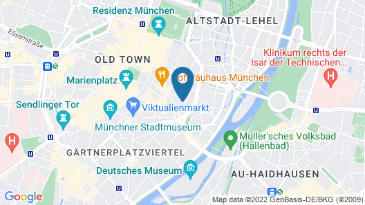 Hotel Concorde München Map