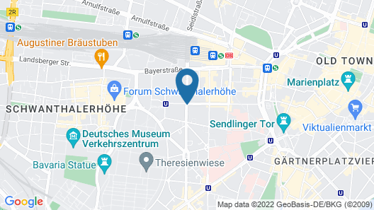TRYP München City Center Hotel Map