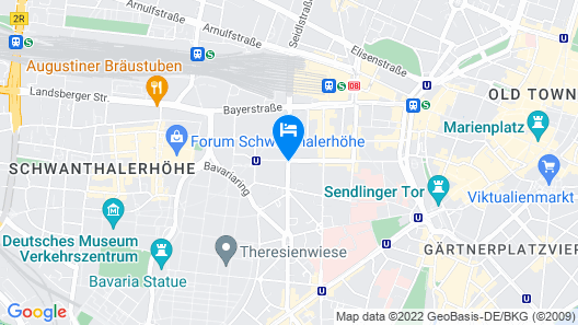 Hotel München City Center affiliated by Meliá Map