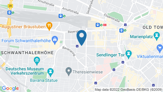 GHOTEL hotel & living München-City Map