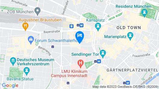 H+ Hotel München Map