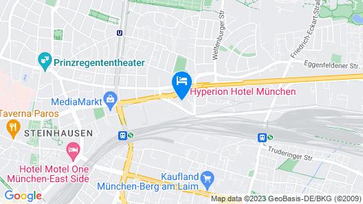HYPERION Hotel München Map