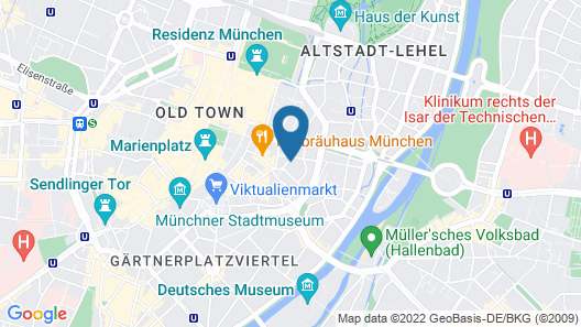 Apartments & Hotel Maximilian Munich Map
