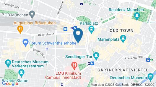 Hotel Deutsches Theater Downtown Map