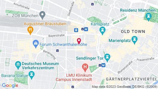 Courtyard by Marriott Munich City Center Map