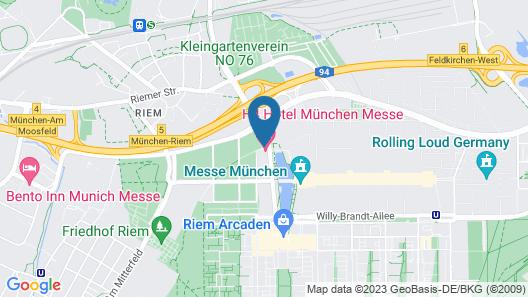 H4 Hotel München Messe Map