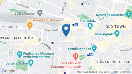 Eurostars Book Hotel Map