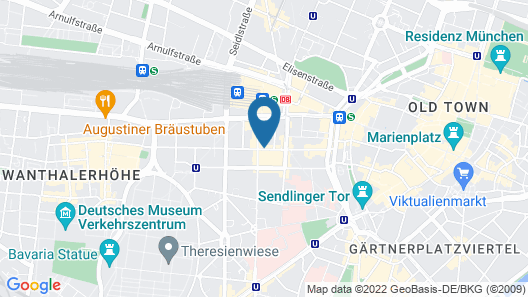 Hotel Cristal München Map